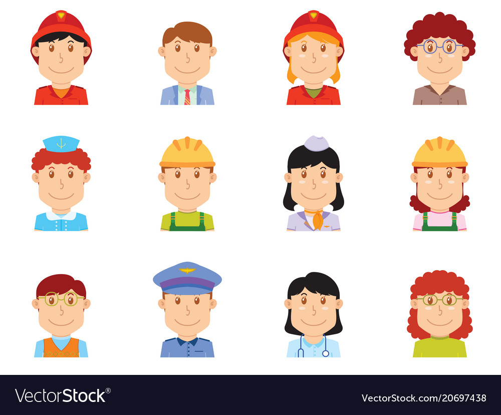 People profession avatar part two vector image