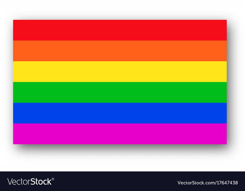 Rainbow Flag Lgbt Symbol Royalty Free Vector Image