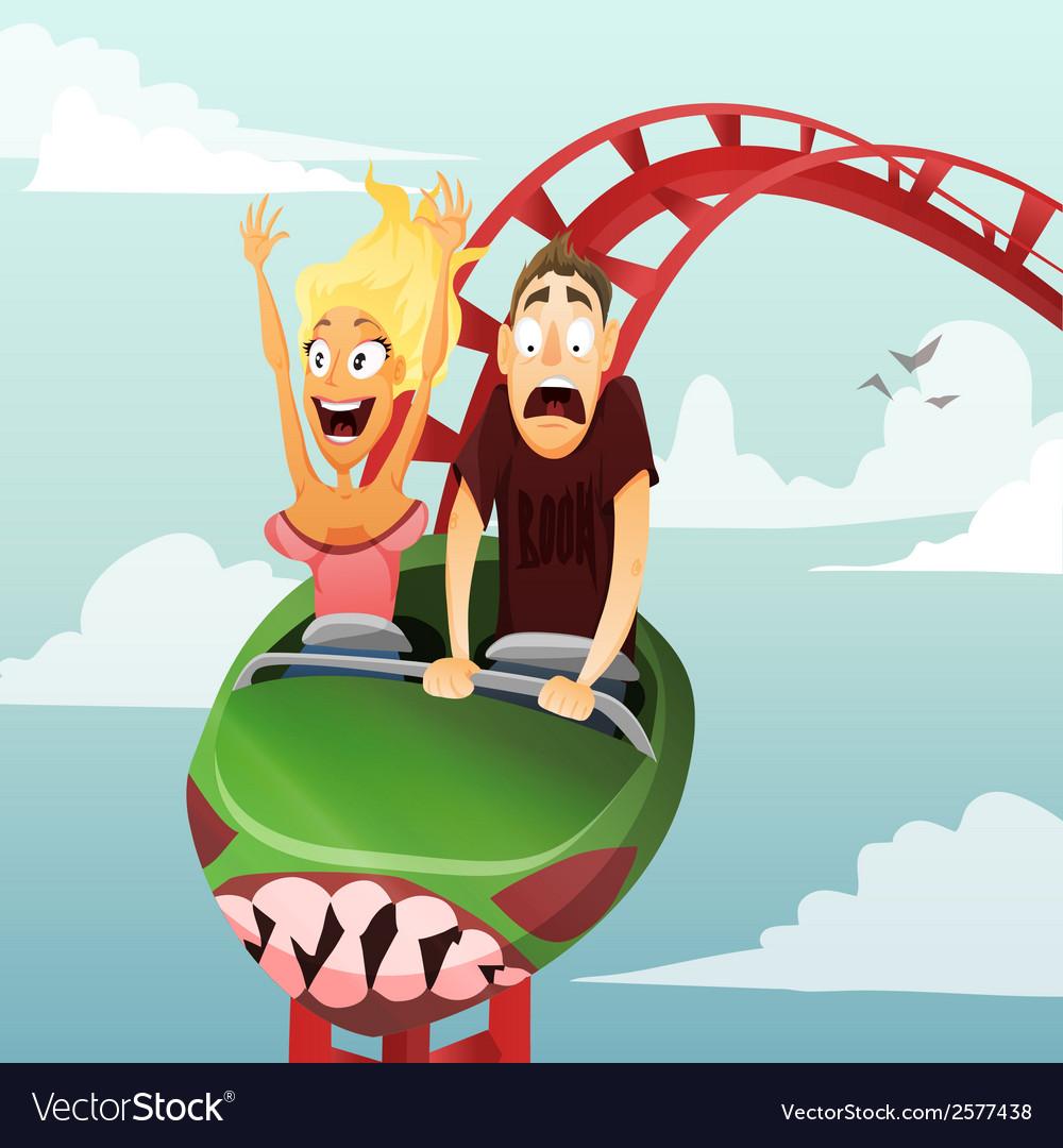 Roller-coaster vector image