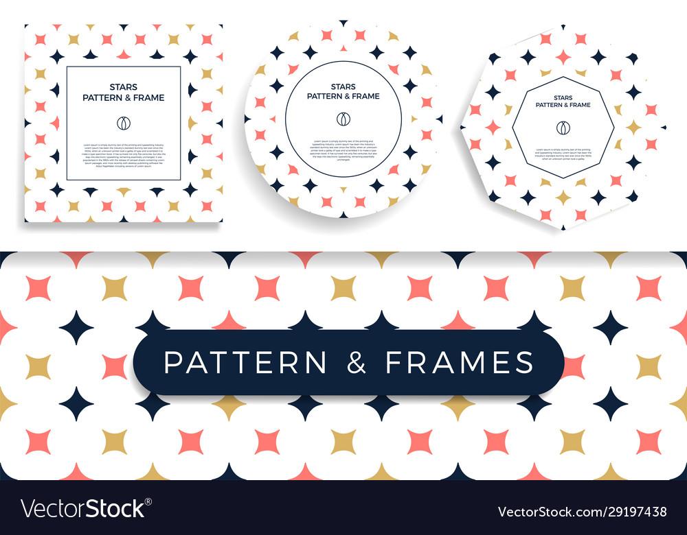 Set poster banner or card frame border