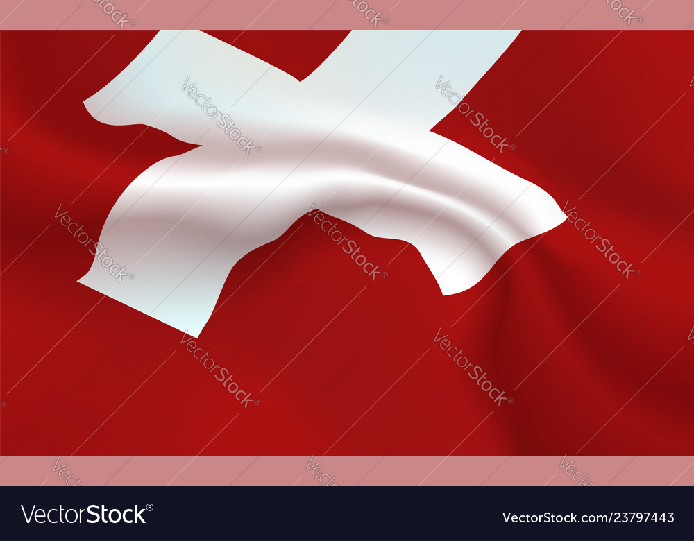 Background switzerland flag in folds swiss honor