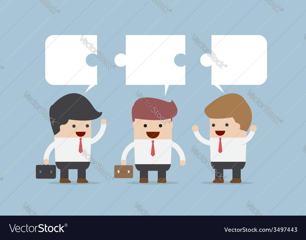 Businessman in conversation Group of businessman