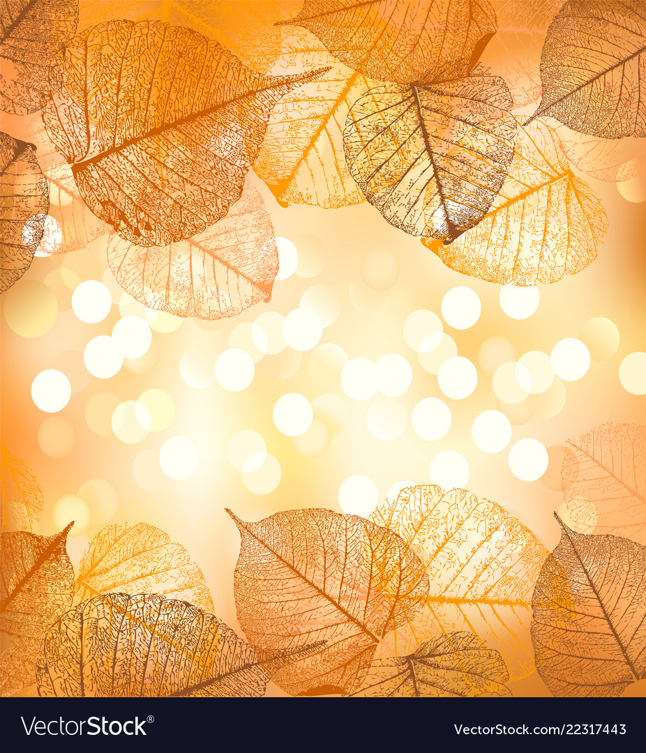 Festive background of autumn leaves
