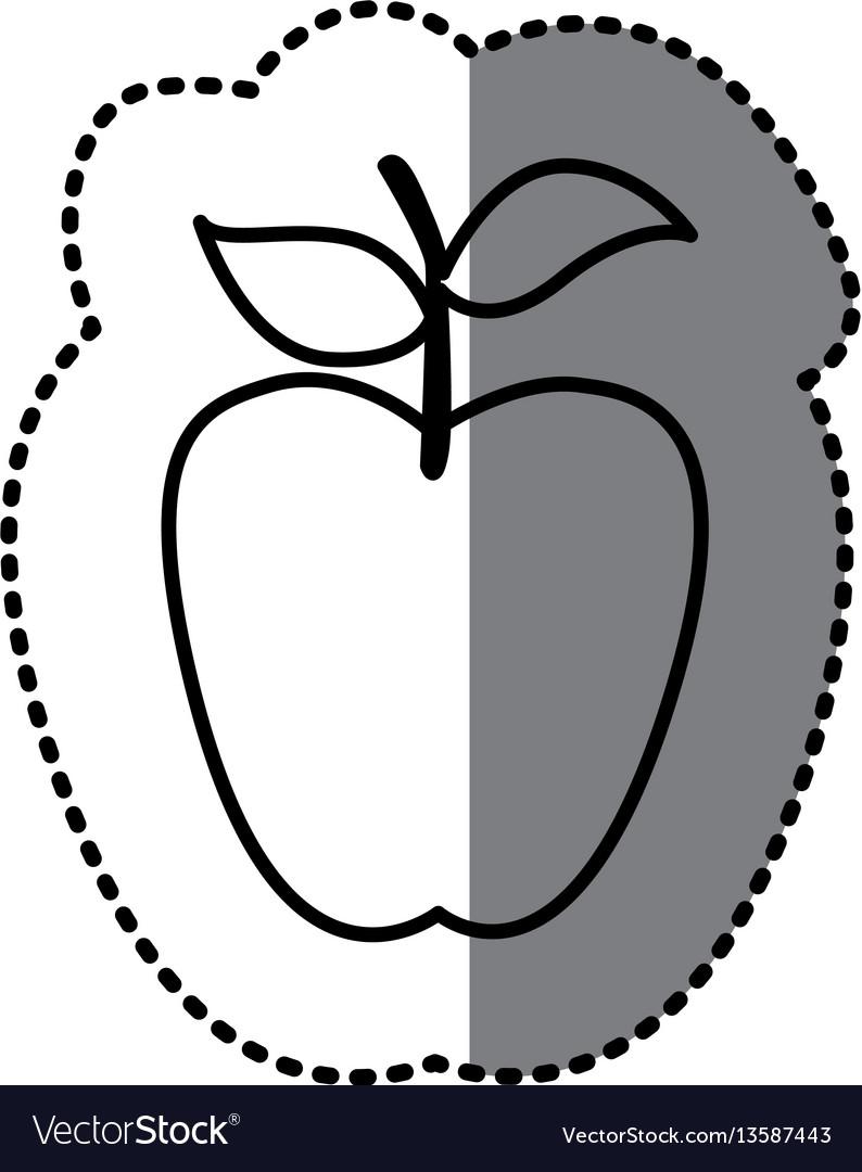 Figure long apple fruit icon