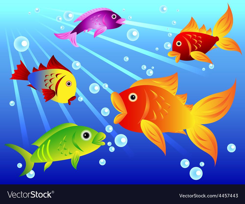 Fun Colorful Fish Royalty Free Vector Image Vectorstock