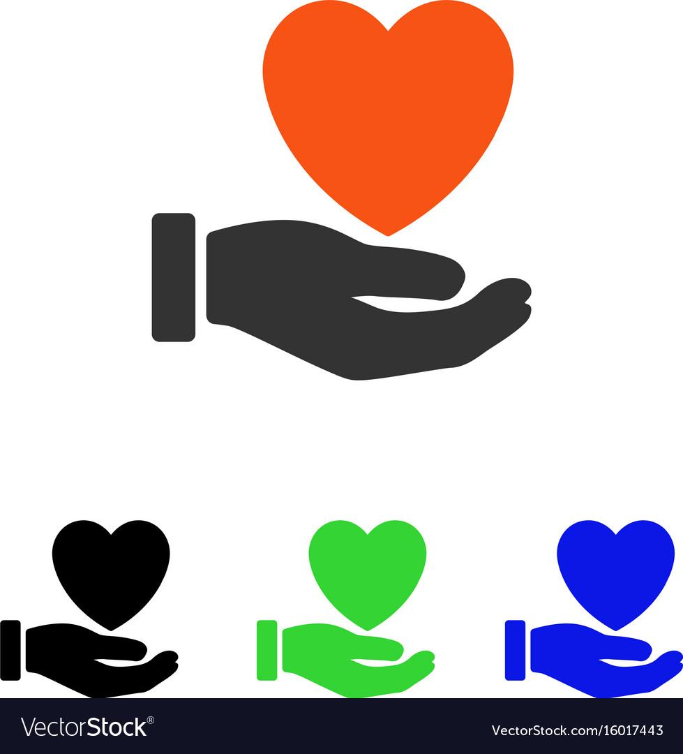 Heart charity flat icon