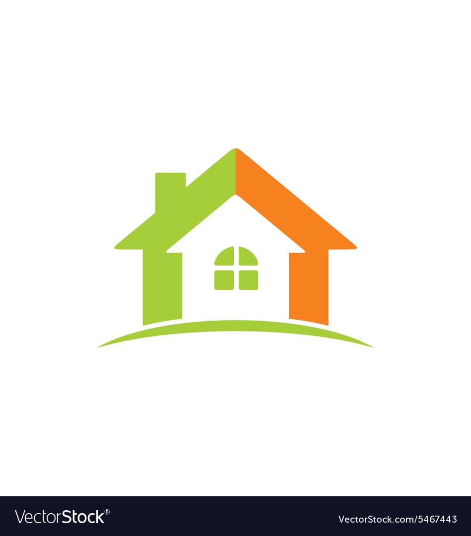 House construction icon abstract logo