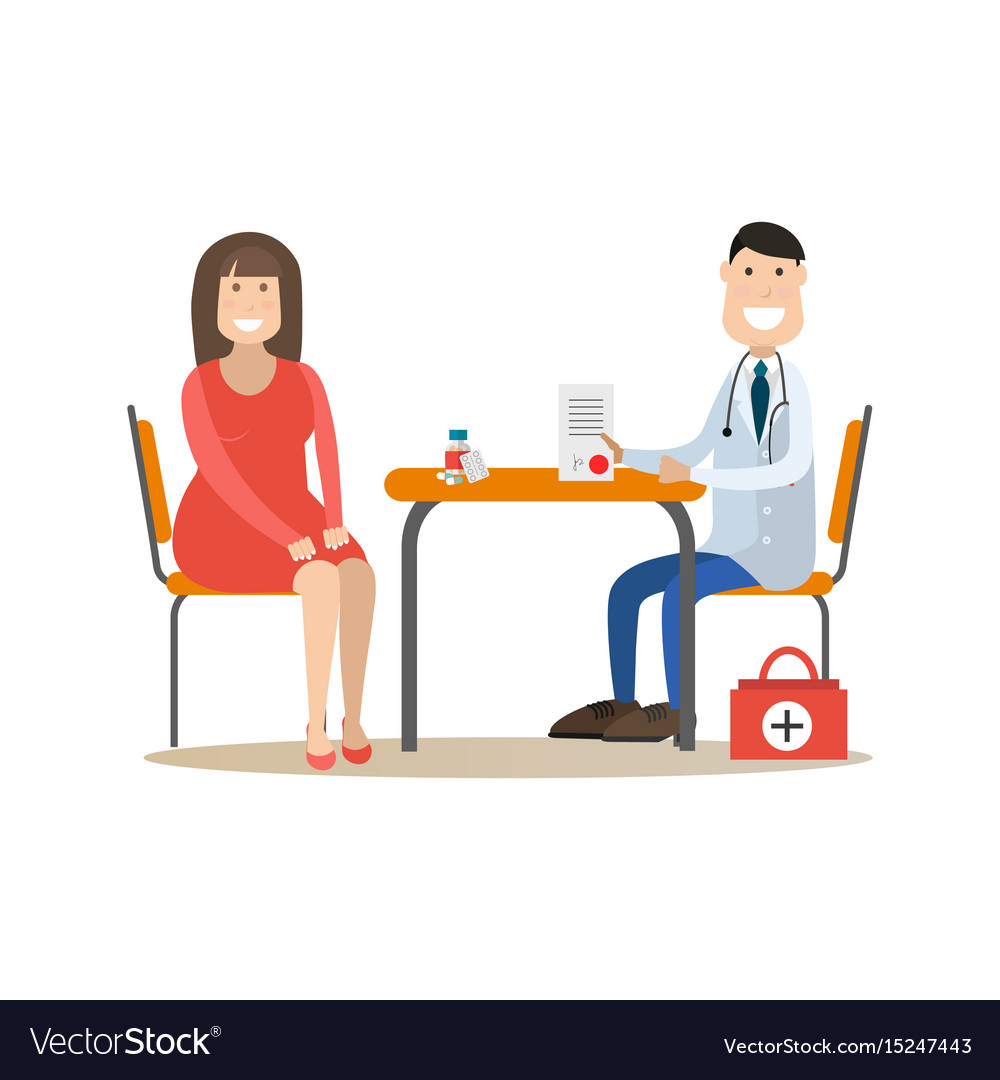 Nutritionist concept in flat vector image