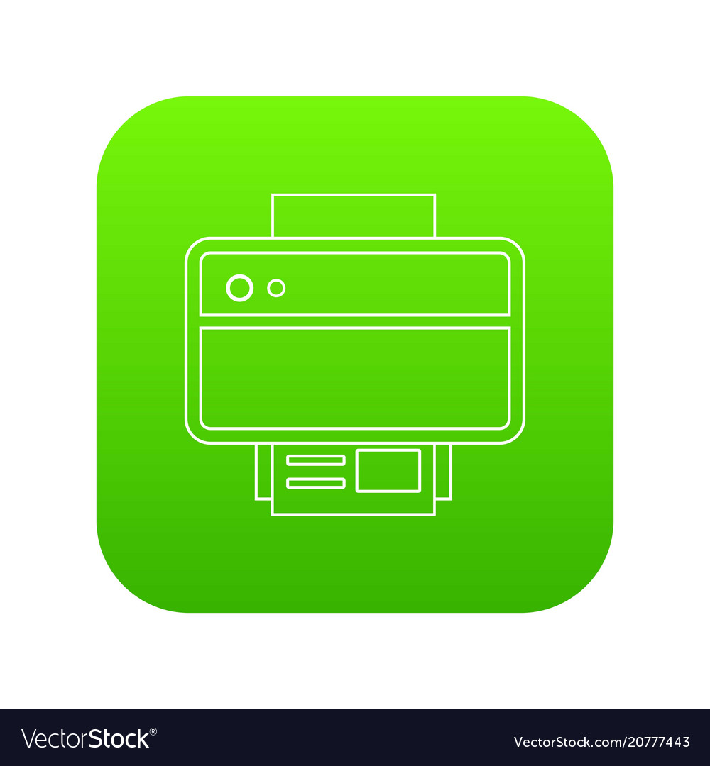 Printer icon green