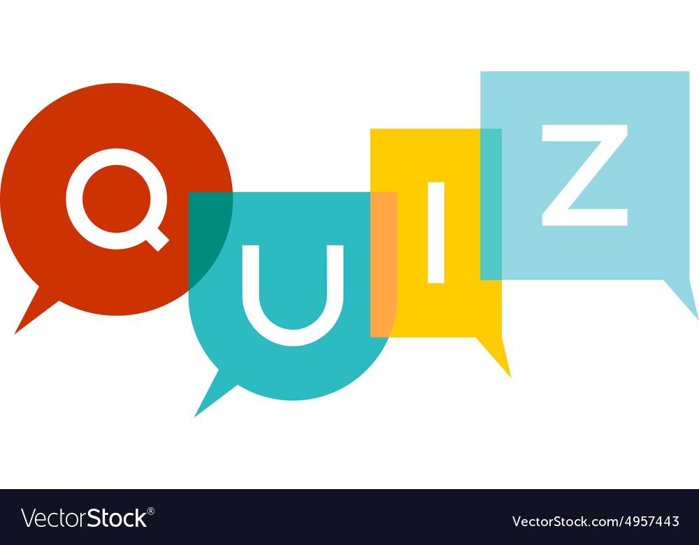 Quiz Letters Royalty Free Vector Image Vectorstock
