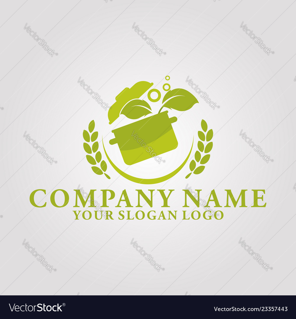 Restaurant leaf logo 4