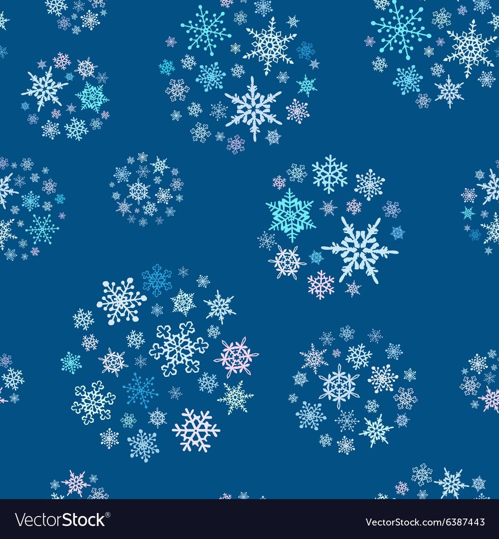 Snowflakes balls seamless pattern