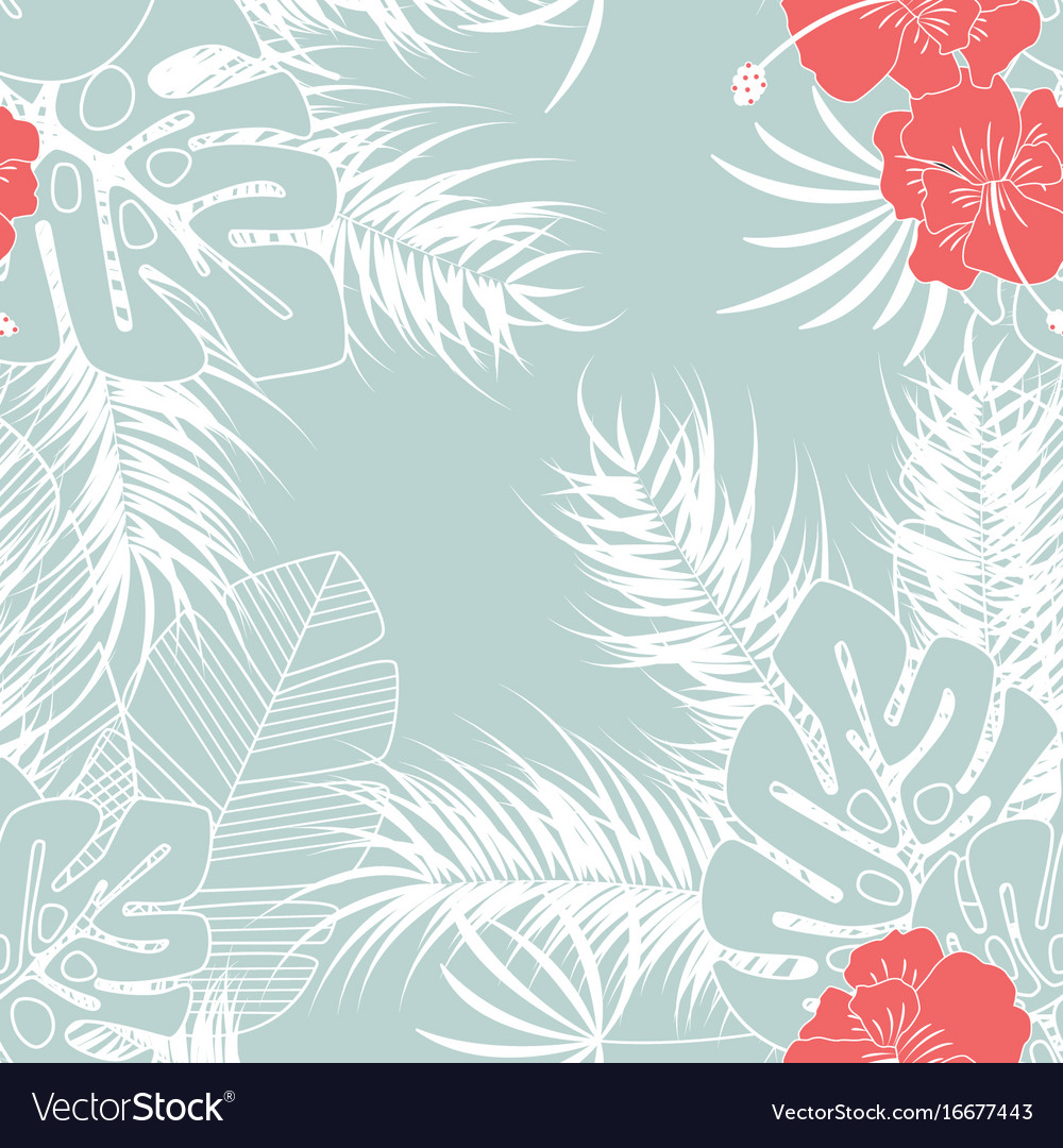 Summer seamless tropical pattern with monstera