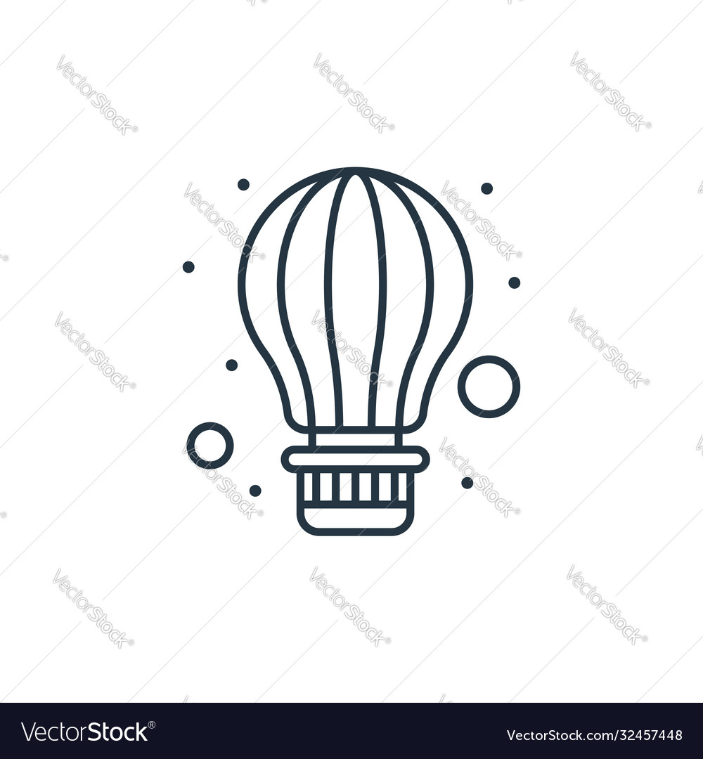 Air balloon icon isolated on white background
