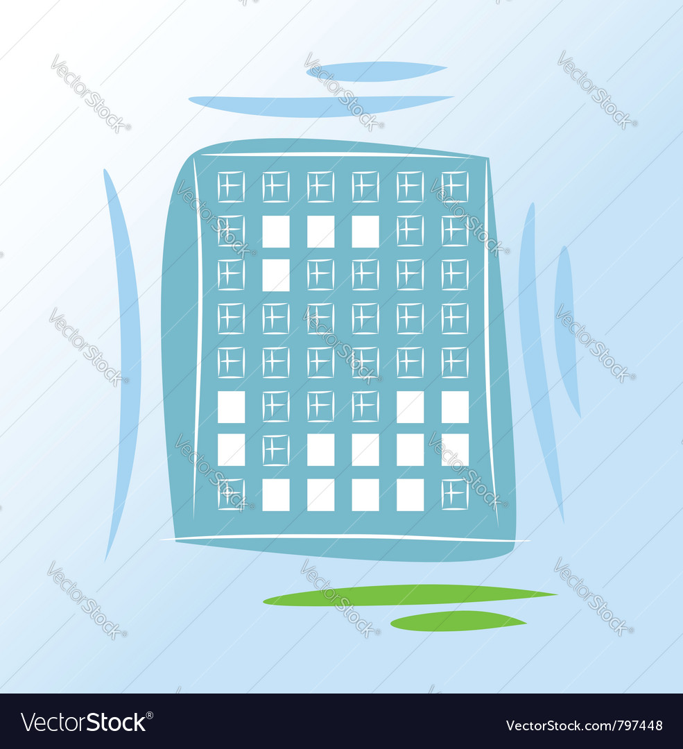 House lights vector image