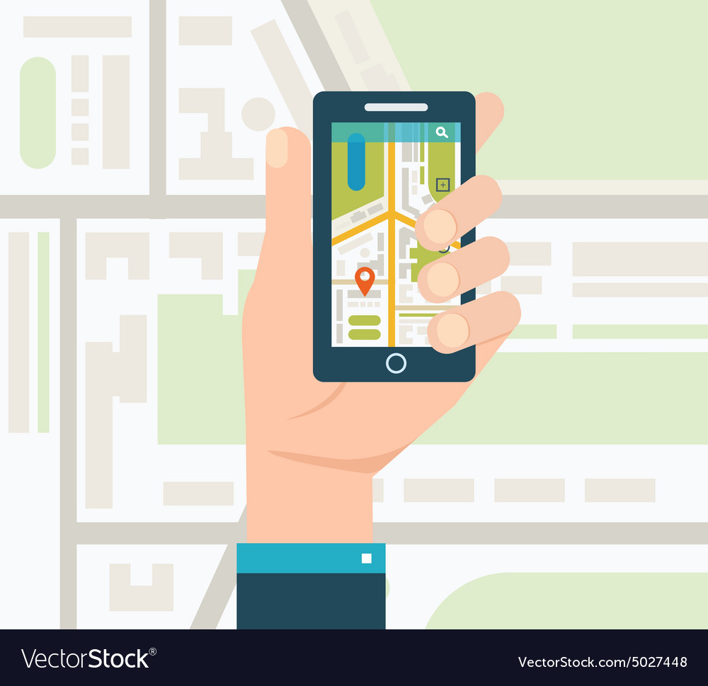 Mobile gps navigation on mobile phone with map