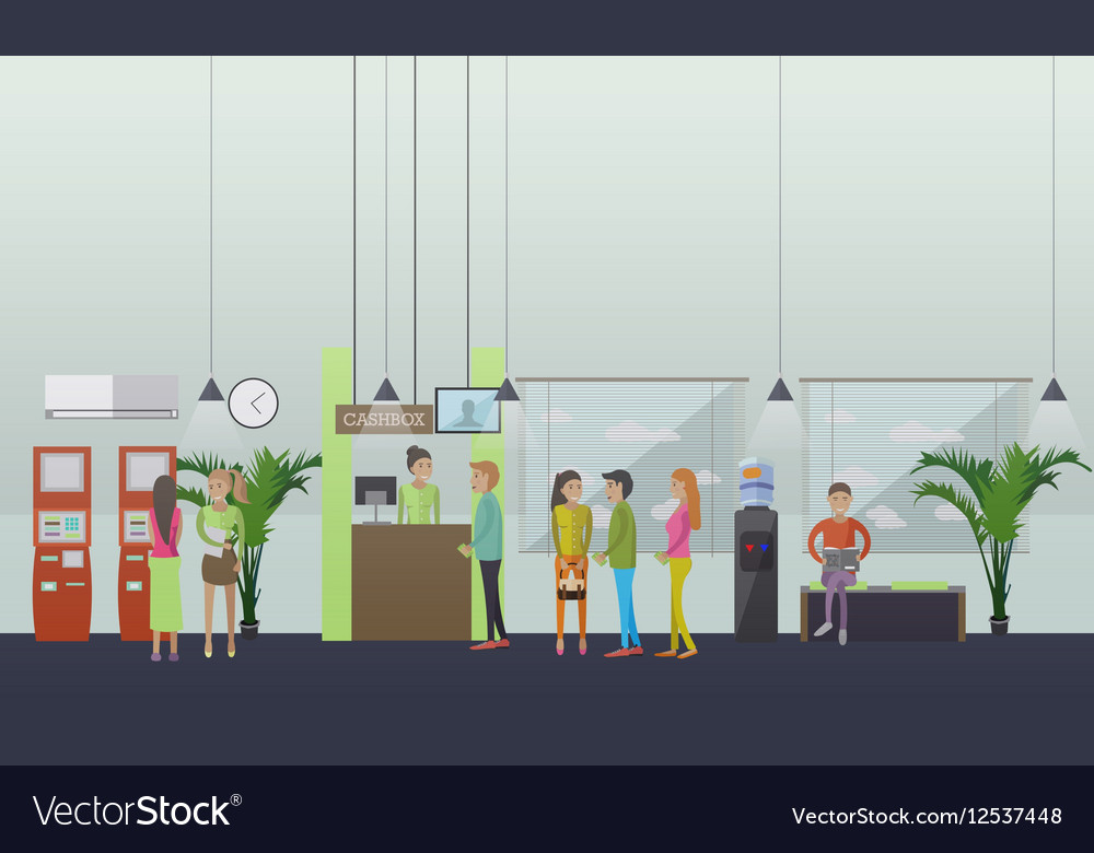Set of banking concept design elements in