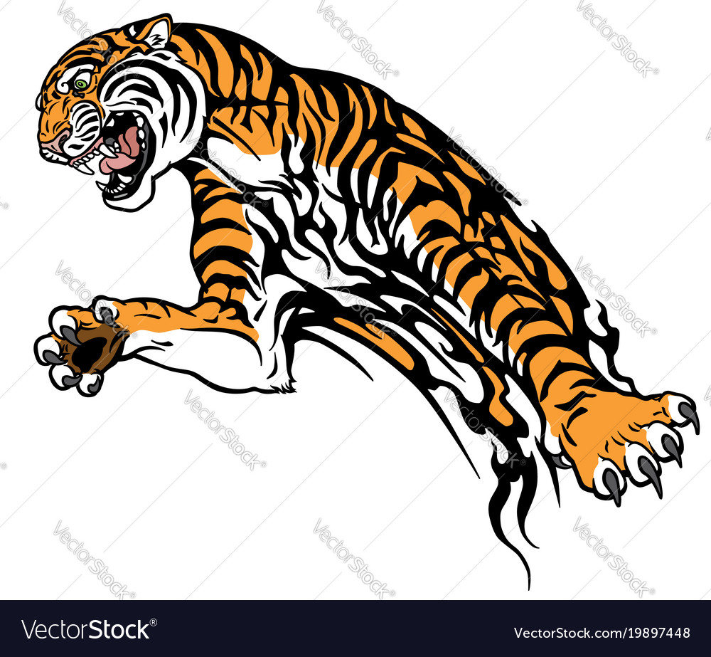 Tiger tribal vector image