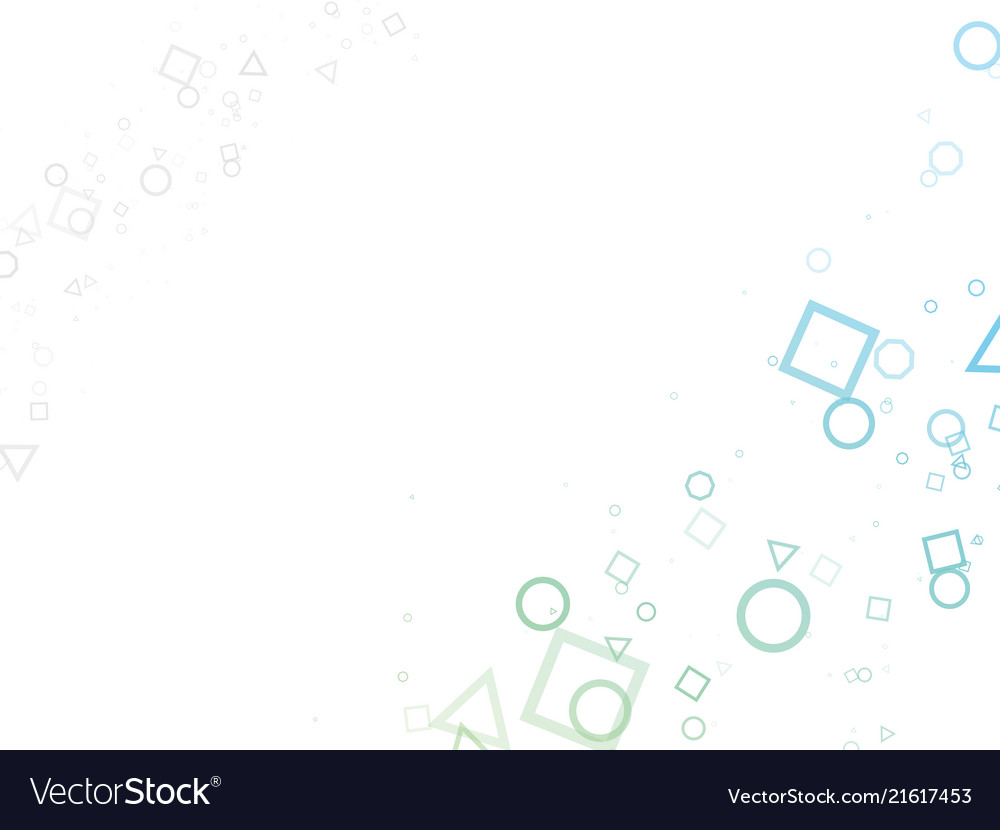Abstract green blue geometric shapes background