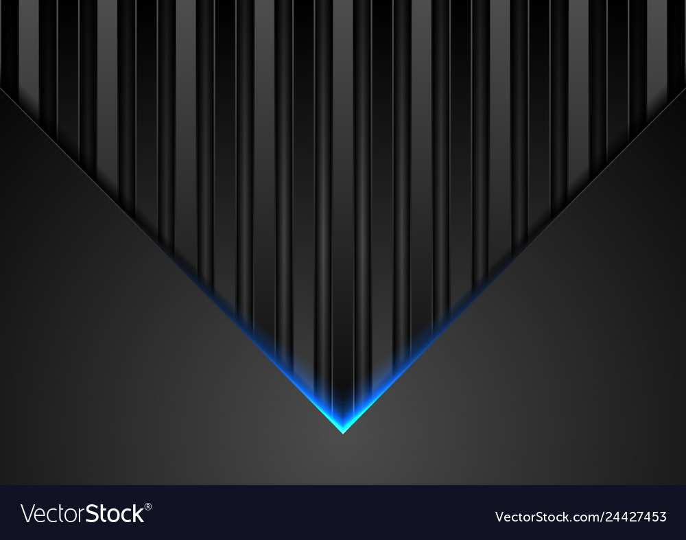 Black abstract tech background with blue neon