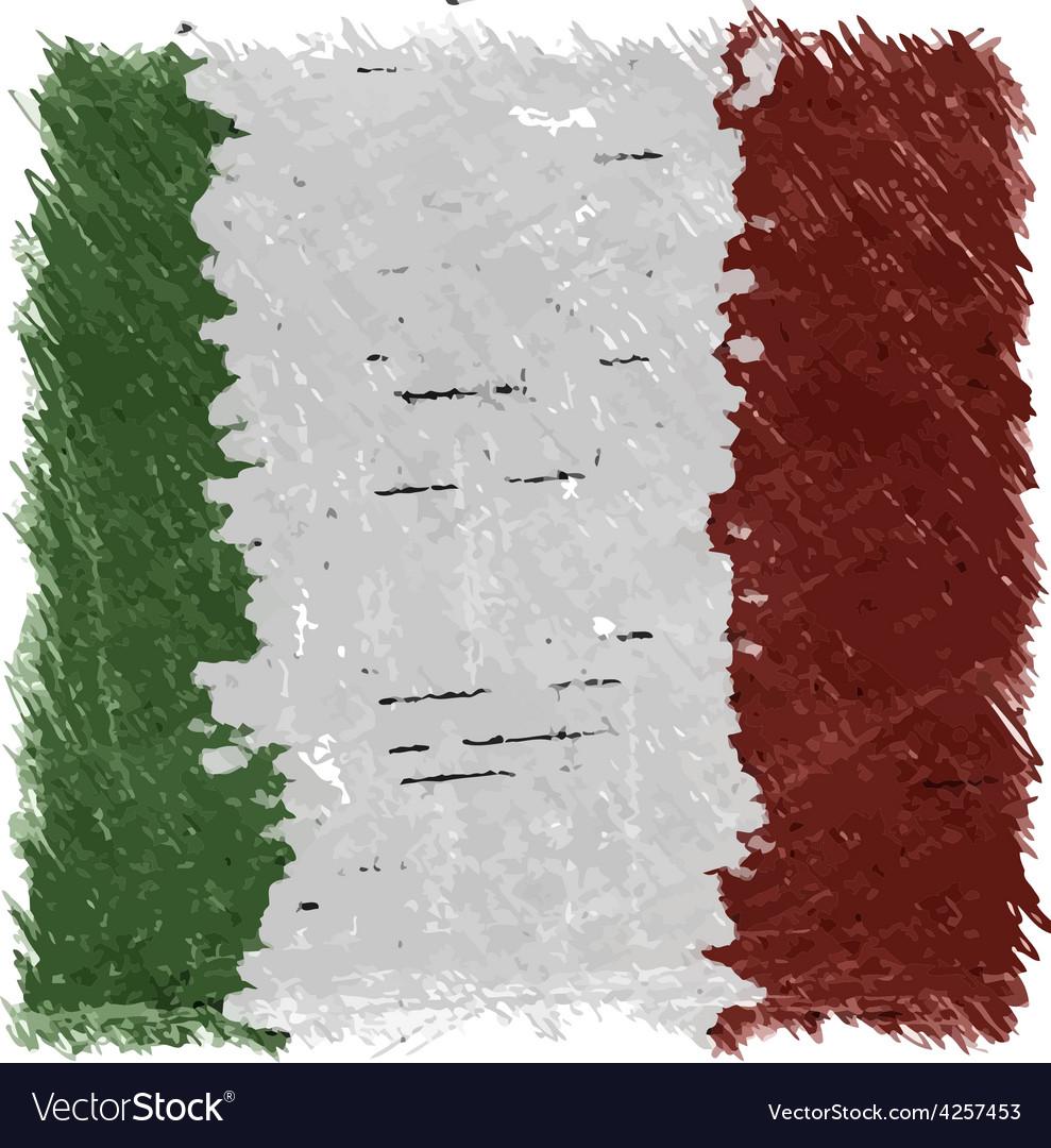 Flag of Italy handmade square shape