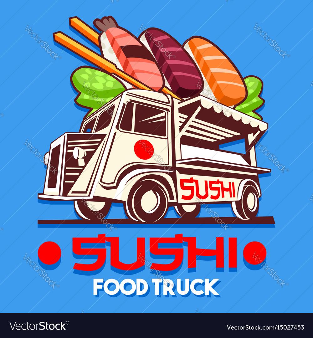 Food truck japanese sushi sashimi delivery