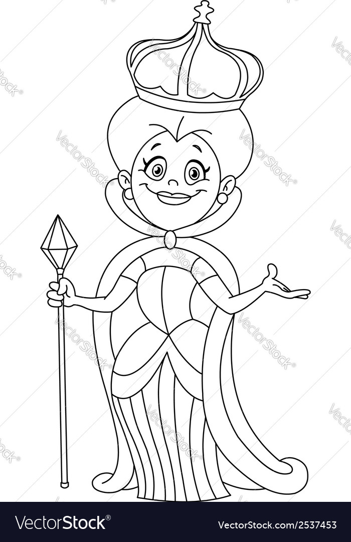 Outlined queen