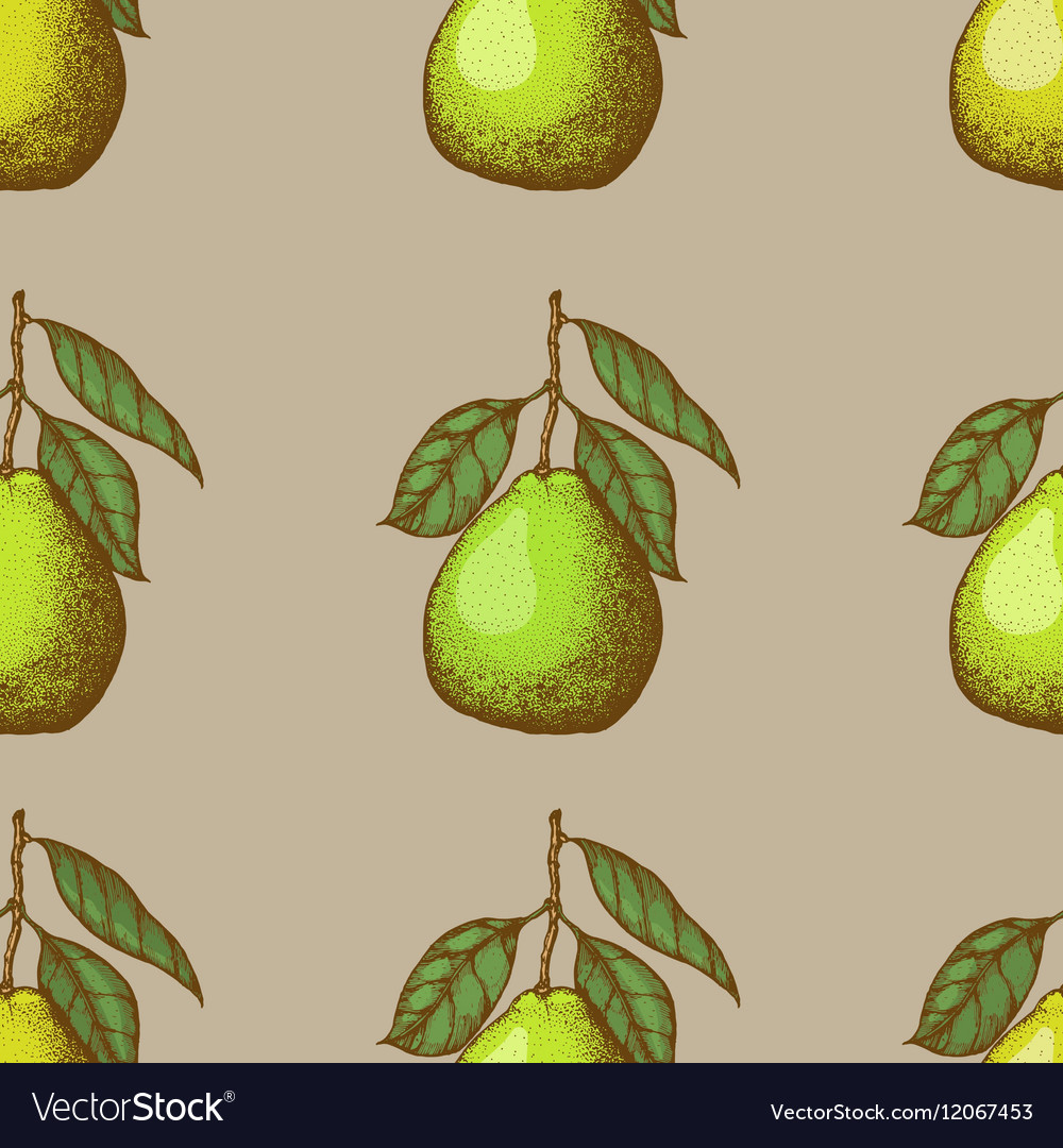 Seamless pattern with pomelo