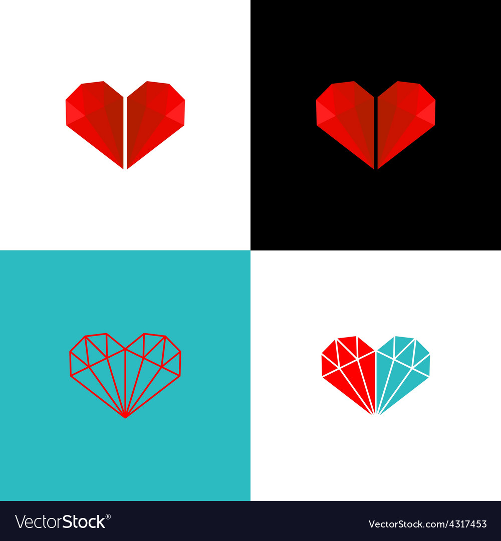 Two diamonds heart logo