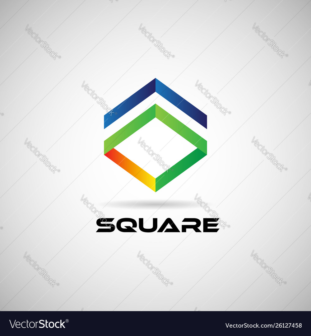 Abstract colorful square shape company business