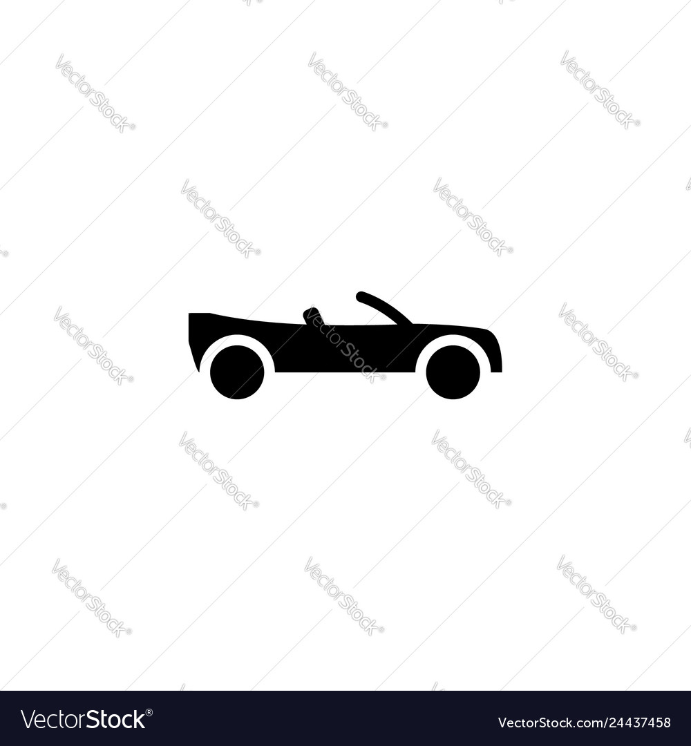 Convertibles car icon solid vehicle and