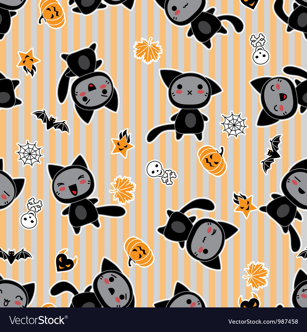 Halloween Cartoon Cat background