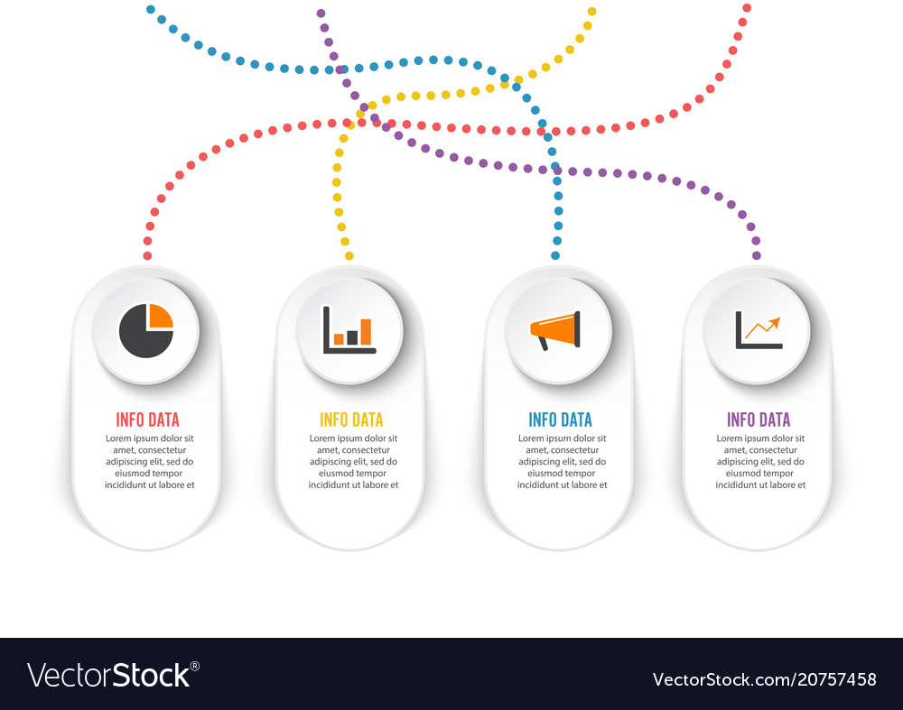 Infographic design and marketing icons can be
