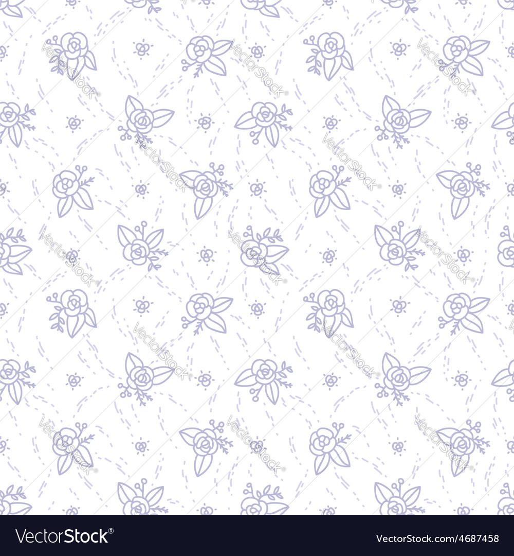 Little purple roses seamless pattern