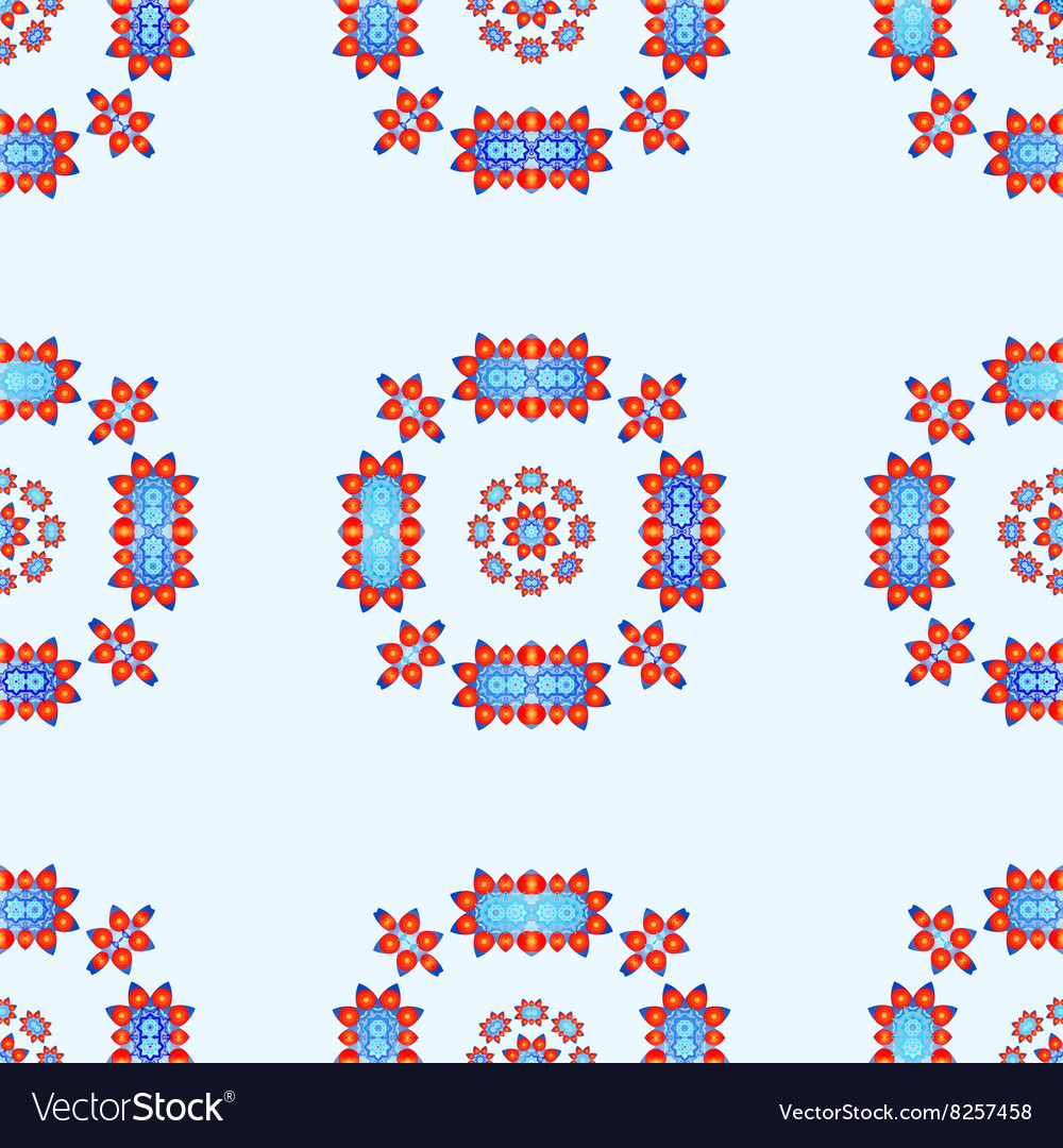 Seamless Pattern with Abstract Lotus Flowers vector image