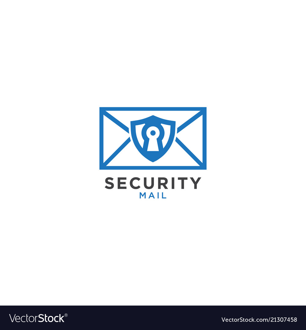 Security mail graphic design template