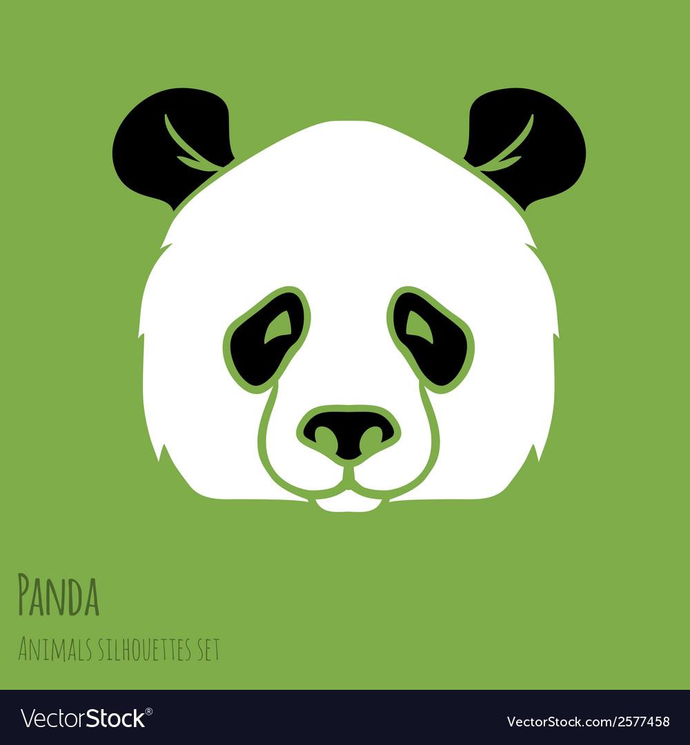 Set panda silhouettes
