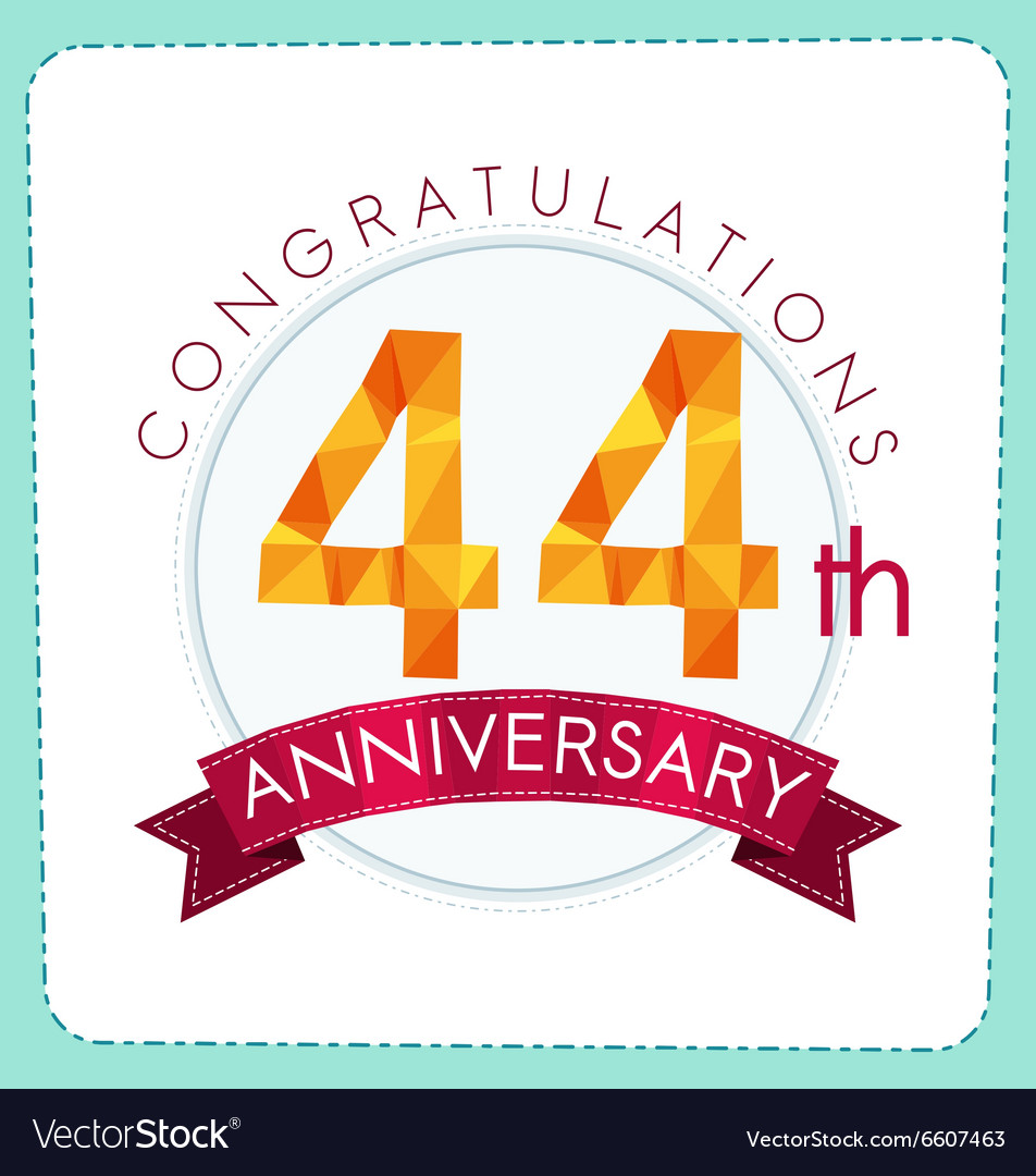 Colorful polygonal anniversary logo 3 044