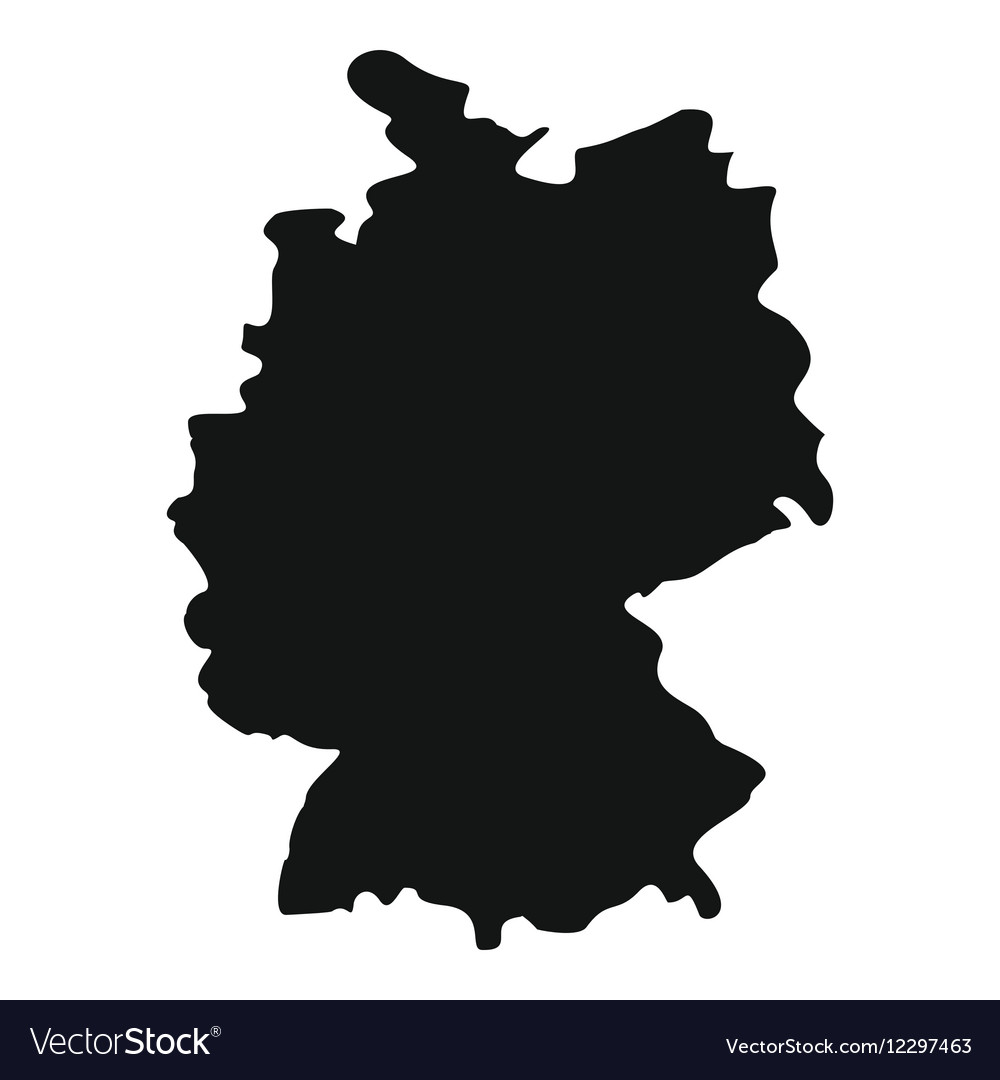 map of germany icon simple style vector image