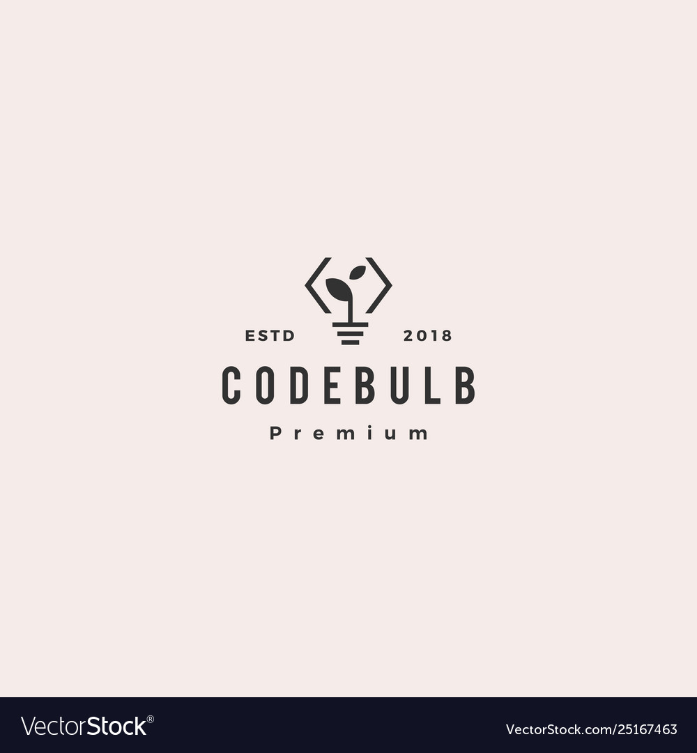Think code bulb leaf innovation smart logo icon