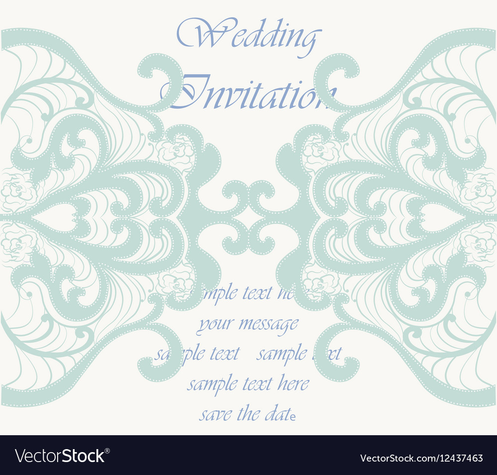 Wedding Invitation card with ornaments Royalty Free Vector