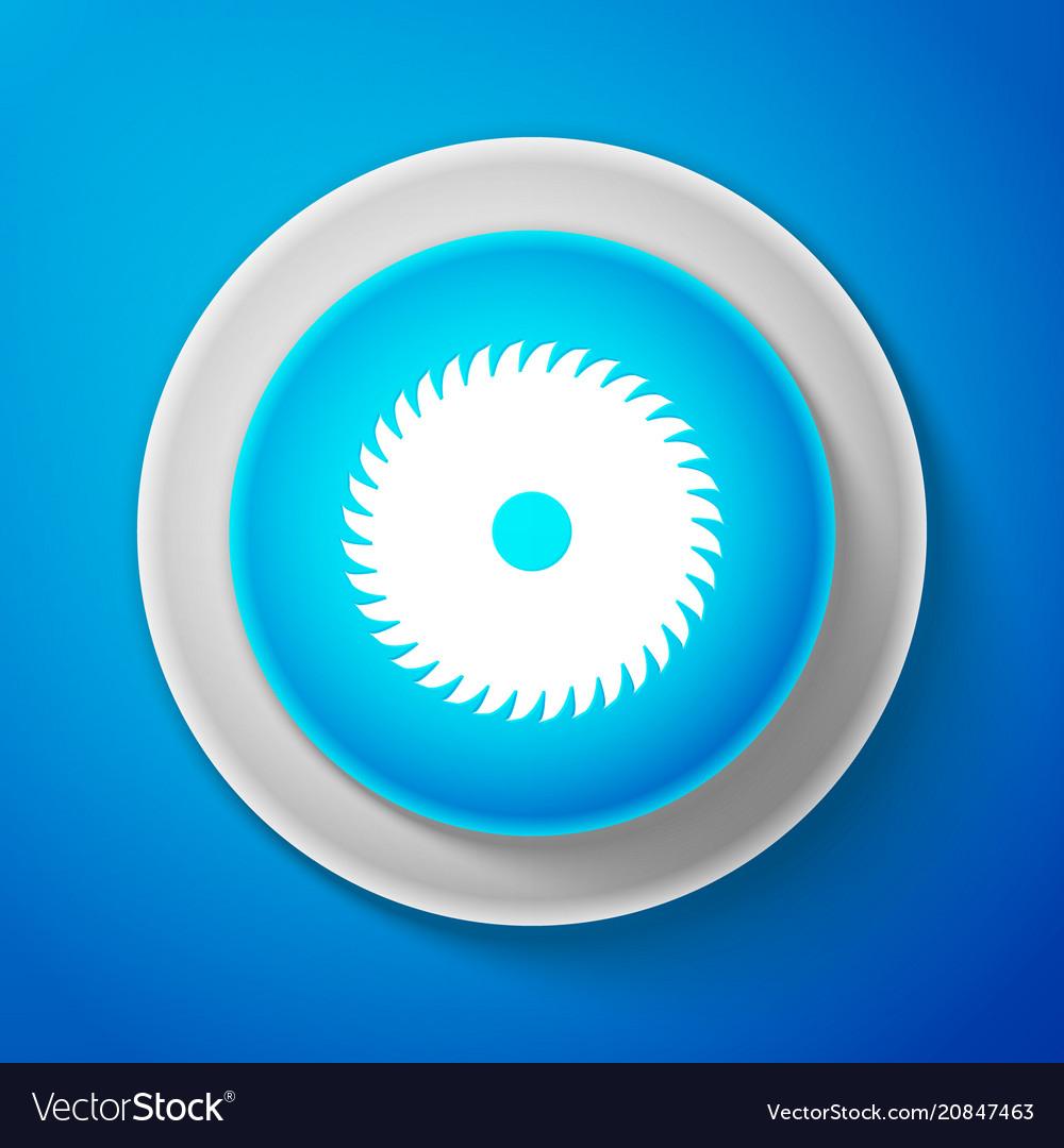 White circular saw blade icon saw wheel