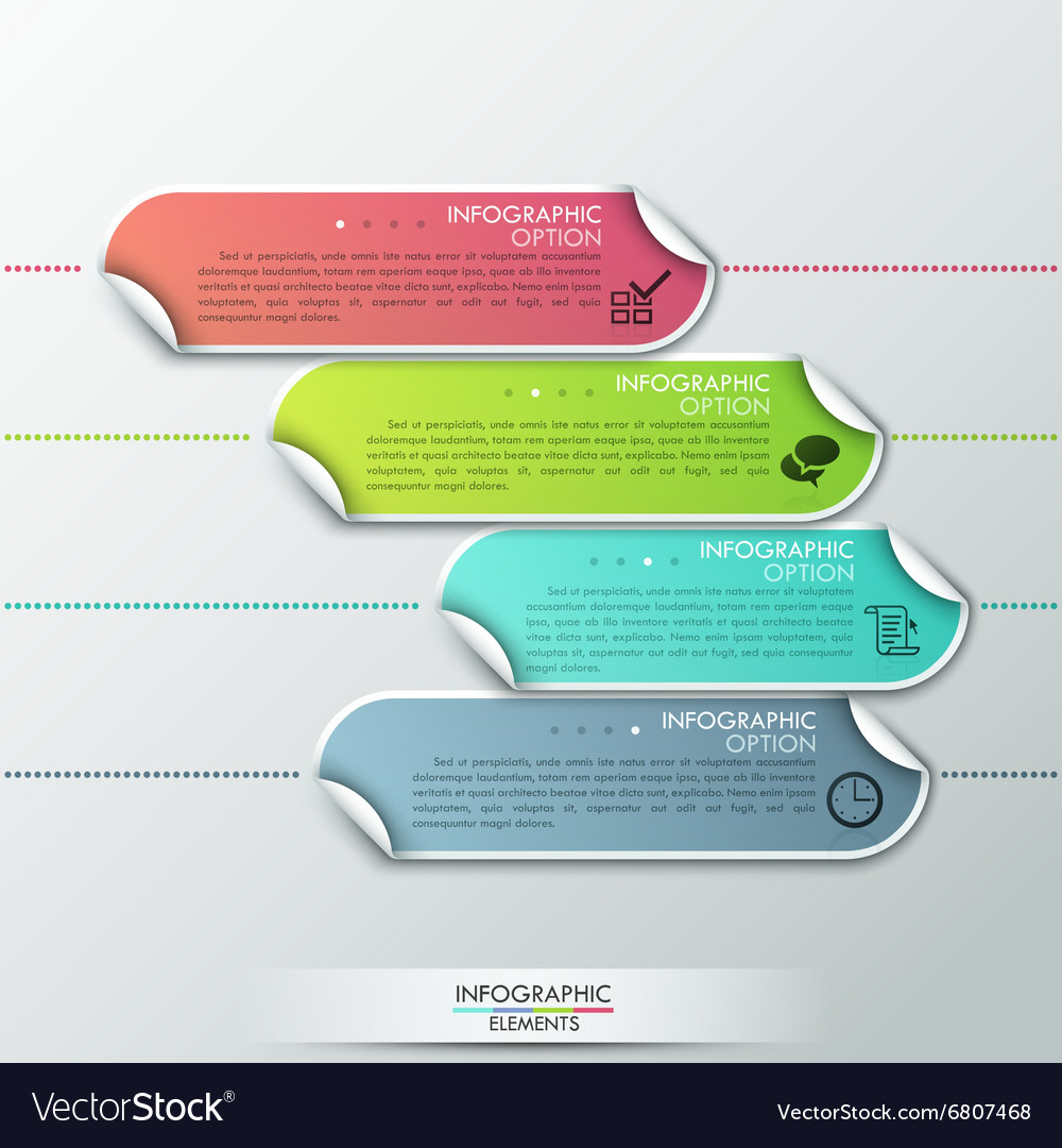 Abstract infographics template design with