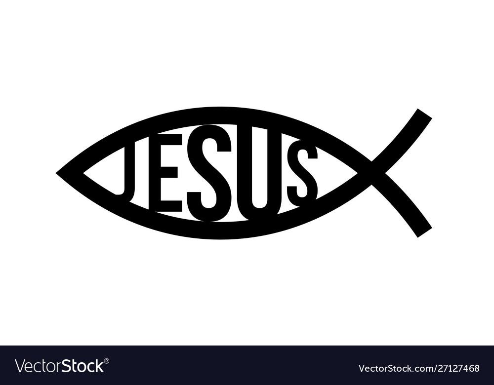 Christian fish symbol jesus fish icon religious