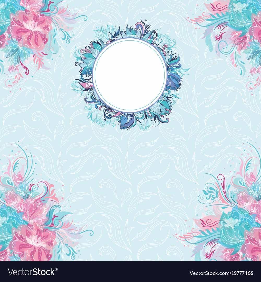 Floral banner template vector image