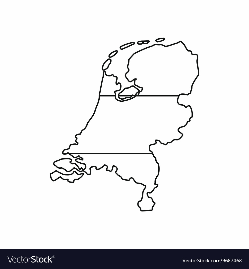 Holland map icon outline style