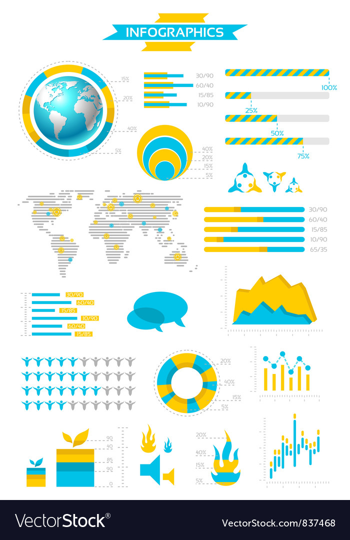 Infographic collection with labels
