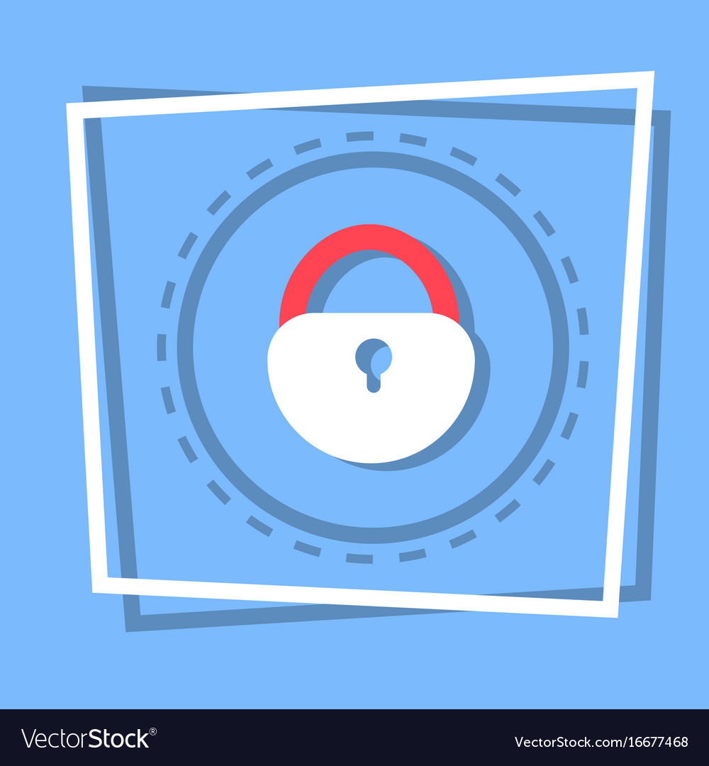 Lock icon security protection concept