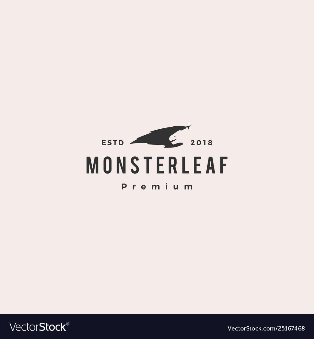 Monster leaf logo icon