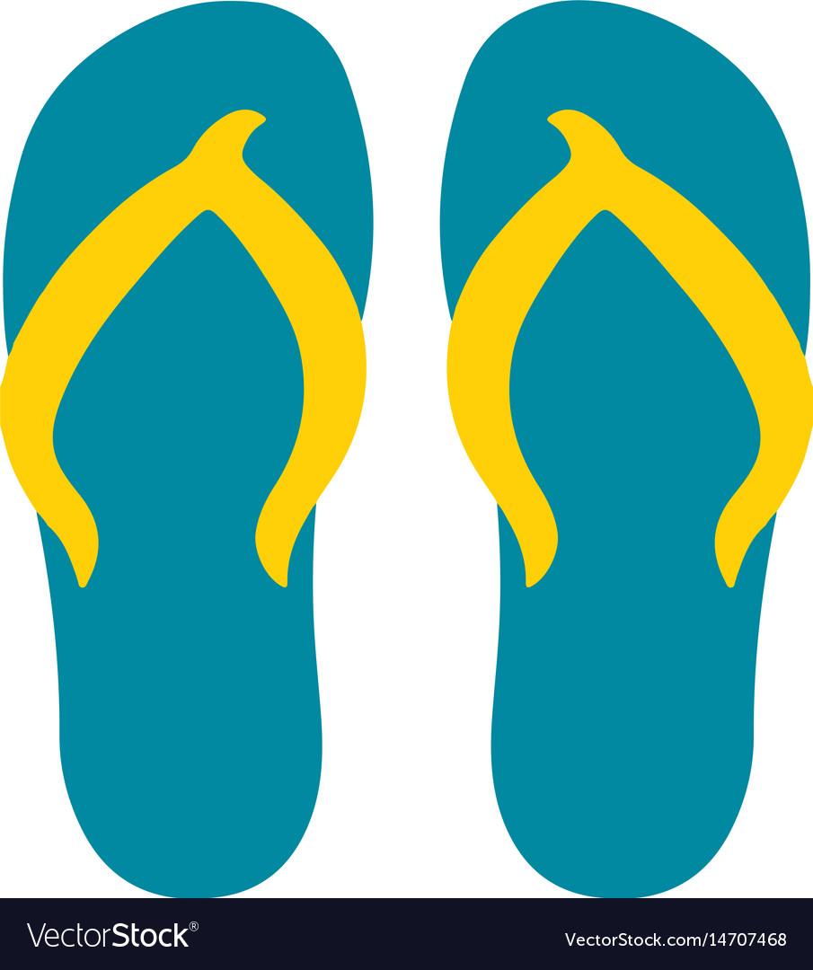 Summer flip flops vector image
